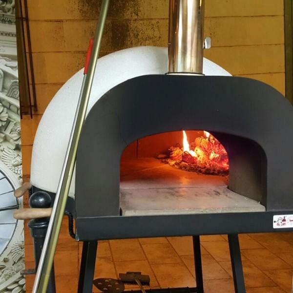 Forno a legna e gas subito cotto 95 zio ciro forni a - Temperatura forno a legna pizza ...