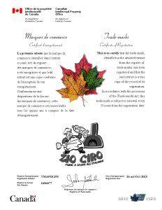 Registrazione Zio Ciro in Canada